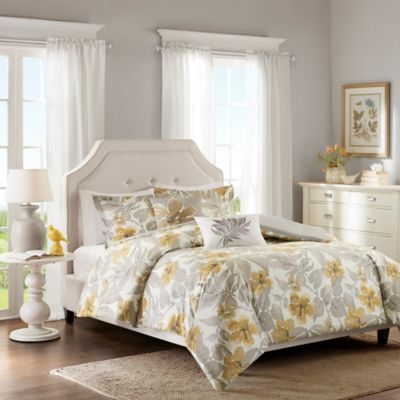 Harbor House Gabrielle Full/Queen Duvet Cover Set in Yellow/Grey