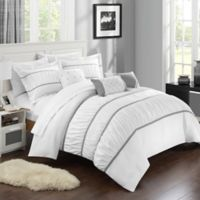 Chic Home Aero 10-Piece King Comforter Set in White