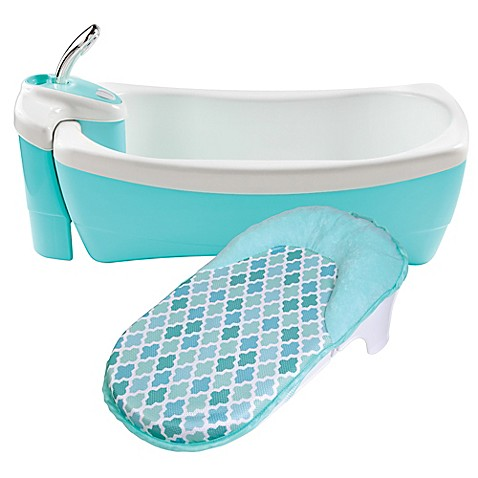 Summer infant lil luxuries whirlpool bubbling spa and shower in aqua bed bath beyond - Aqua whirlpools ...