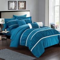Chic Home Aero 10-Piece King Comforter Set in Teal