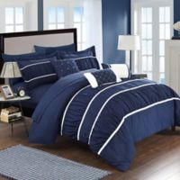 Chic Home Aero 10-Piece King Comforter Set in Navy