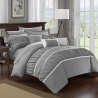 Chic Home Aero 10-Piece King Comforter Set in Grey