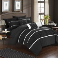 Chic Home Aero 10-Piece King Comforter Set in Black