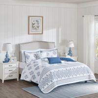 Harbor House™ Sanibel King Coverlet Set in White/Indigo