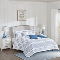 Harbor House™ Sanibel Full/Queen Coverlet Set in White/Indigo
