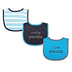 Baby Vision Luvable Friends Boy Grandma Drooler Bib 5-Pack