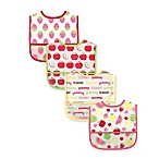 Baby Vision Luvable Friends PEVA Bibs 4-Pack in Pink Fruit