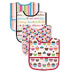 Baby Vision Luvable Friends PEVA Bibs 4-Pack in Pink Desserts