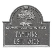 Whitehall Products Family Tree Anniversary/Wedding Plaque in Pewter/Silver
