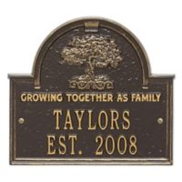 Whitehall Products Family Tree Anniversary/Wedding Plaque in Bronze/Gold