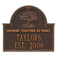 Whitehall Products Family Tree Anniversary/Wedding Plaque in Oil-Rubbed Bronze