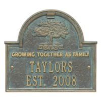 Whitehall Products Family Tree Anniversary/Wedding Plaque in Green/Bronze