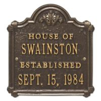 Whitehall Products Chatham Wedding/Anniversary Plaque with Bronze/Gold Finish
