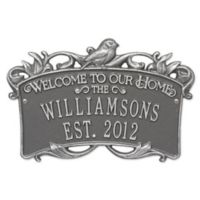 Songbird Welcome Plaque in Pewter Silver
