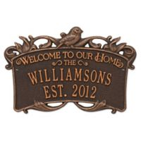 Songbird Welcome Plaque in Oil Rubbed Bronze