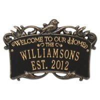 Songbird Welcome Plaque in Black/Gold