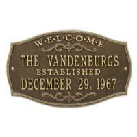 Brookfield Welcome Anniversary Plaque in Antique Brass
