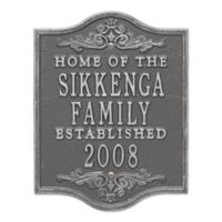 Buena Vista Anniversary Wedding Plaque in Pewter Silver
