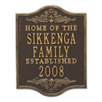 Buena Vista Anniversary Wedding Plaque in Bronze Gold
