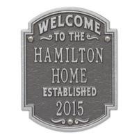 Whitehall Products Heritage Welcome/Anniversary Plaque in Pewter/Silver