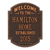 Whitehall Products Heritage Welcome/Anniversary Plaque in Oil-Rubbed Bronze