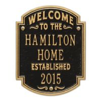 Whitehall Products Heritage Welcome/Anniversary Plaque in Black/Gold