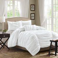 Madison Park Delancey 3-Piece Twin/Twin XL Comforter Set in White