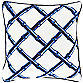 Surya® Brindisi 20-Inch Square Throw Pillow in Blue