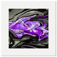 Metal Art Studio Swirl Wall Clock in Purple