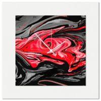 Metal Art Studio Swirl Wall Clock in Red