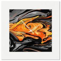 Metal Art Studio Swirl Wall Clock in Orange
