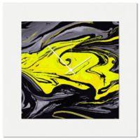 Metal Art Studio Swirl Wall Clock in Yellow