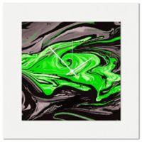 Metal Art Studio Swirl Wall Clock in Green