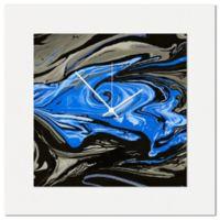 Metal Art Studio Swirl Wall Clock in Blue