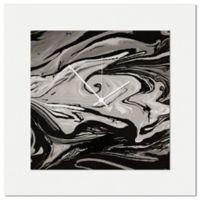 Metal Art Studio Swirl Wall Clock in Black/Grey