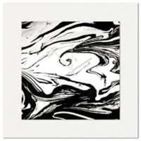 Metal Art Studio Swirl Wall Clock in Black/White
