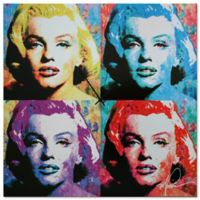 Metal Art Studio Pop Art Marilyn Monroe Wall Clock
