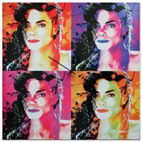 Metal Art Studio Pop Art Michael Jackson Wall Clock