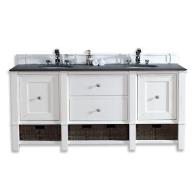 james martin furniture madison 60 inch double vanity cabinet in cottage white - Bathroom Cabinets Bed Bath And Beyond