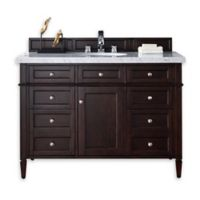 Brittany 48-Inch Single Vanity Cabinet in Mahogany without Top