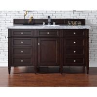 James Martin Furniture Brittany 60-Inch Single Vanity in Mahogany with 4-cm Stone Top