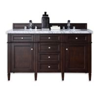 Brittany 60-Inch Double Cabinet in Mahogany without Top