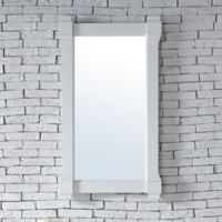 James Martin Furniture Brittany 22-Inch Mirror in Cottage White