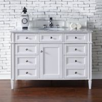 Brittany 47-Inch Single Vanity Cabinet in White