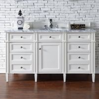James Martin Furniture Brittany 60-Inch Single Cabinet Vanity in Cottage White