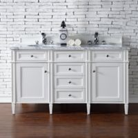 James Martin Furniture 60-Inch Double Vanity in Cottage White