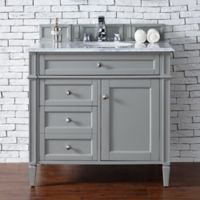 James Martin Furniture Brittany 36-Inch Single Cabinet Vanity in Urban Grey