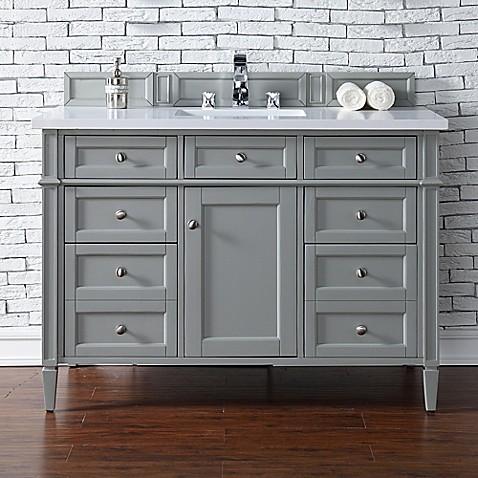 Buy james martin furniture brittany 48 inch single vanity for Bathroom vanity stores virginia beach