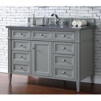 James Martin Furniture Brittany 48-Inch Single Vanity Cabinet with 3cm Marble Top in Grey