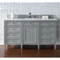 James Martin Furniture Brittany 60-Inch Single Cabinet Vanity in Urban Grey